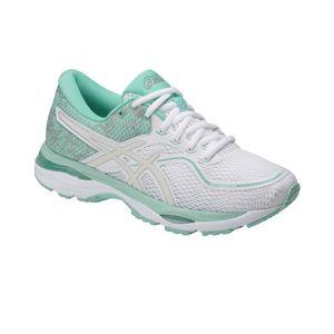 Asics Gel-Cumulus 19 Lite-Show - Damen Laufschuhe Running Schuhe - T8A6N-0193 weiß/hellblau