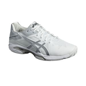 Asics Gel-Solution Speed 3 Clay - Herren Tennisschuhe - E601N-0193 weiß/silber