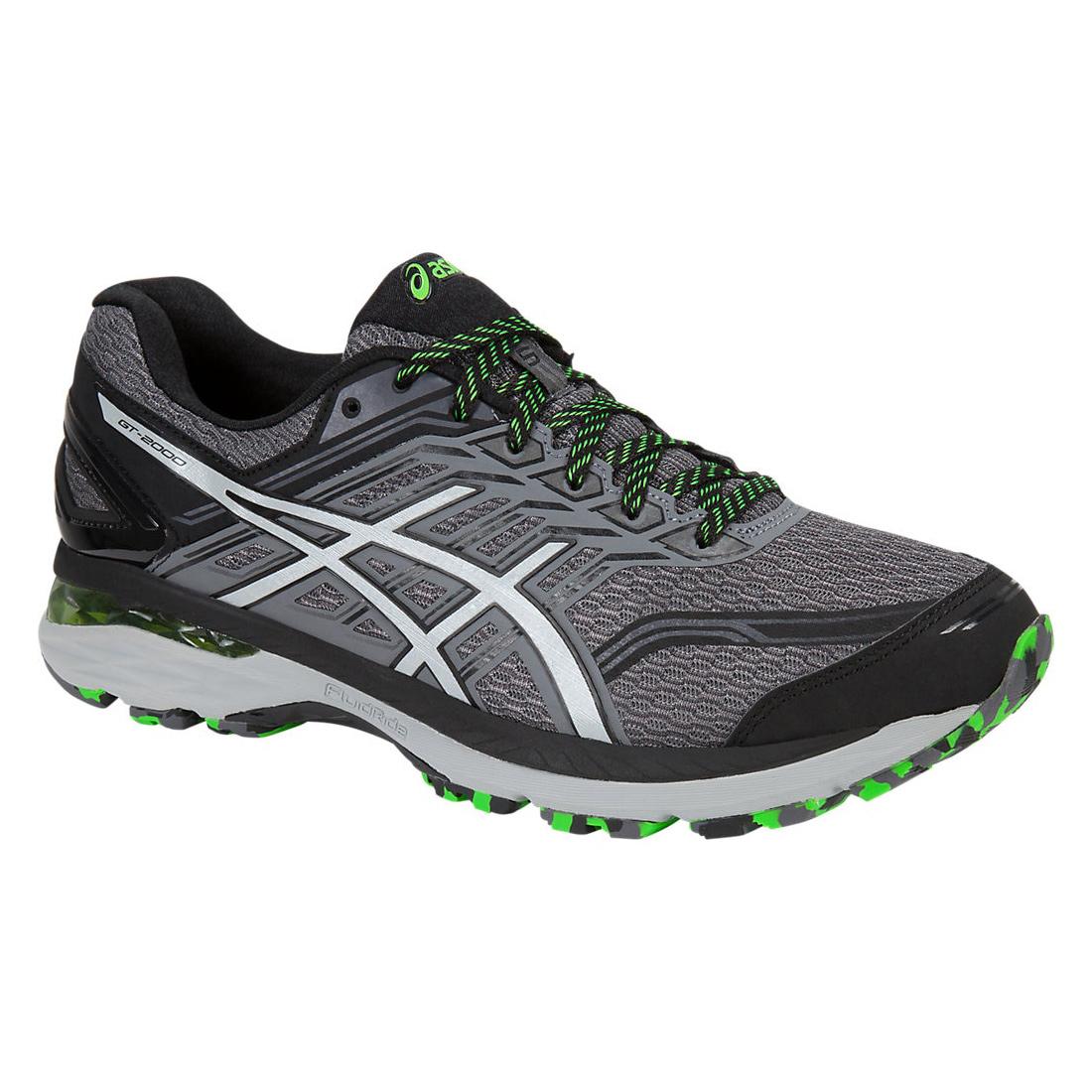 Image of Asics GT-2000 5 Trail - Herren Jogging Trail Running Schuhe - T712N-9796 grau/grün
