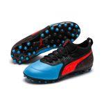 Puma ONE 19.3 MG Jr - Kinder Fußballschuhe Multinockenschuhe - 105499-01 blau/rot 001