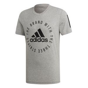 adidas Sport ID Shirt - Herren Fitness Freizeit T-Shirt - DT9913 grau