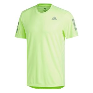 adidas Own The Run T-Shirt - Herren Fitness Freizeit Shirt - DX1316 grün
