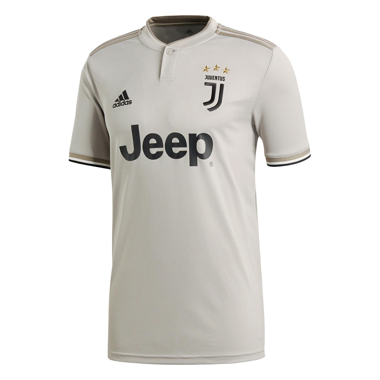 Adidas Juventus Turin 18 19 Herren Auswarts Trikot Mit Ronaldo Flock Cf3488 Beige