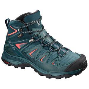 Salomon X Ultra MID GTX W - Damen Trekkingschuhe Wanderschuhe - 404755 hydro