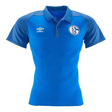 umbro FC Schalke 04 Herren Polo Shirt 18/19 - 79624U-GTA blau