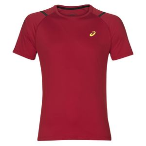 Asics Icon Shirt Sleeve Top - Herren Laufshirt Running T-Shirt - 2011A259-609 rot