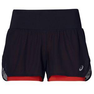 Asics Cool 2-IN-1 Short - Damen Laufhose Sporthose kurze Hose - 2012A259-008 schwarz