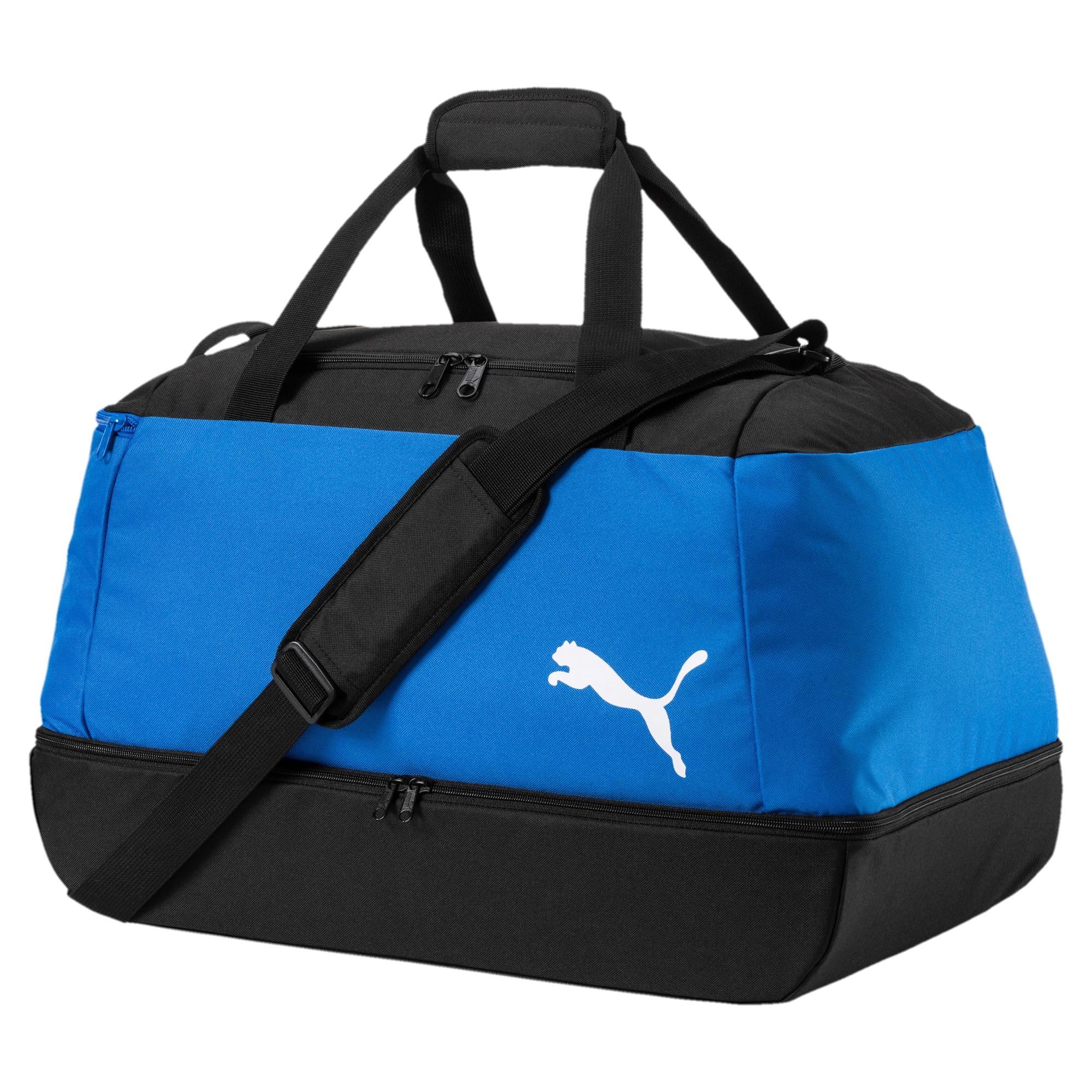 Puma Pro Training II Football Bag Fußball Sporttasche mit Bodenfach 074897 03 blau
