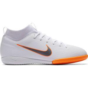 Nike Jr. MercurialX Superfly VI Academy IC - Kinder Fußballschuhe Halle - AH7343-107 weiß/orange