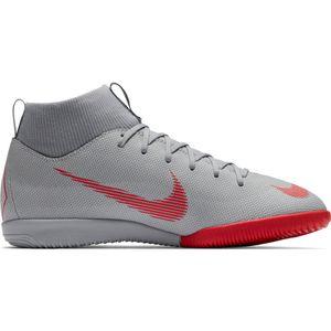 Nike Jr. MercurialX Superfly VI Academy IC - Kinder Fußballschuhe Halle - AH7343-060 grau/rot
