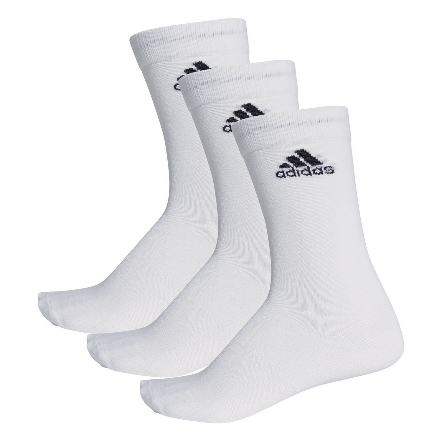 get new nice shoes detailed pictures adidas Performance Crew Thin 3PP - 3er Packung Socken Sportsocken - AA2329  weiß
