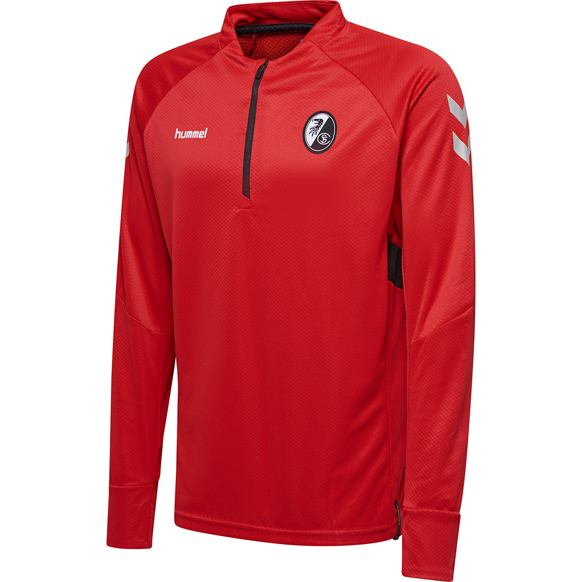 huge selection of 784a2 dddfe Hummel SC Freiburg Tech Move - Herren Half Zip Shirt Langarmshirt -  203099-3062 rot