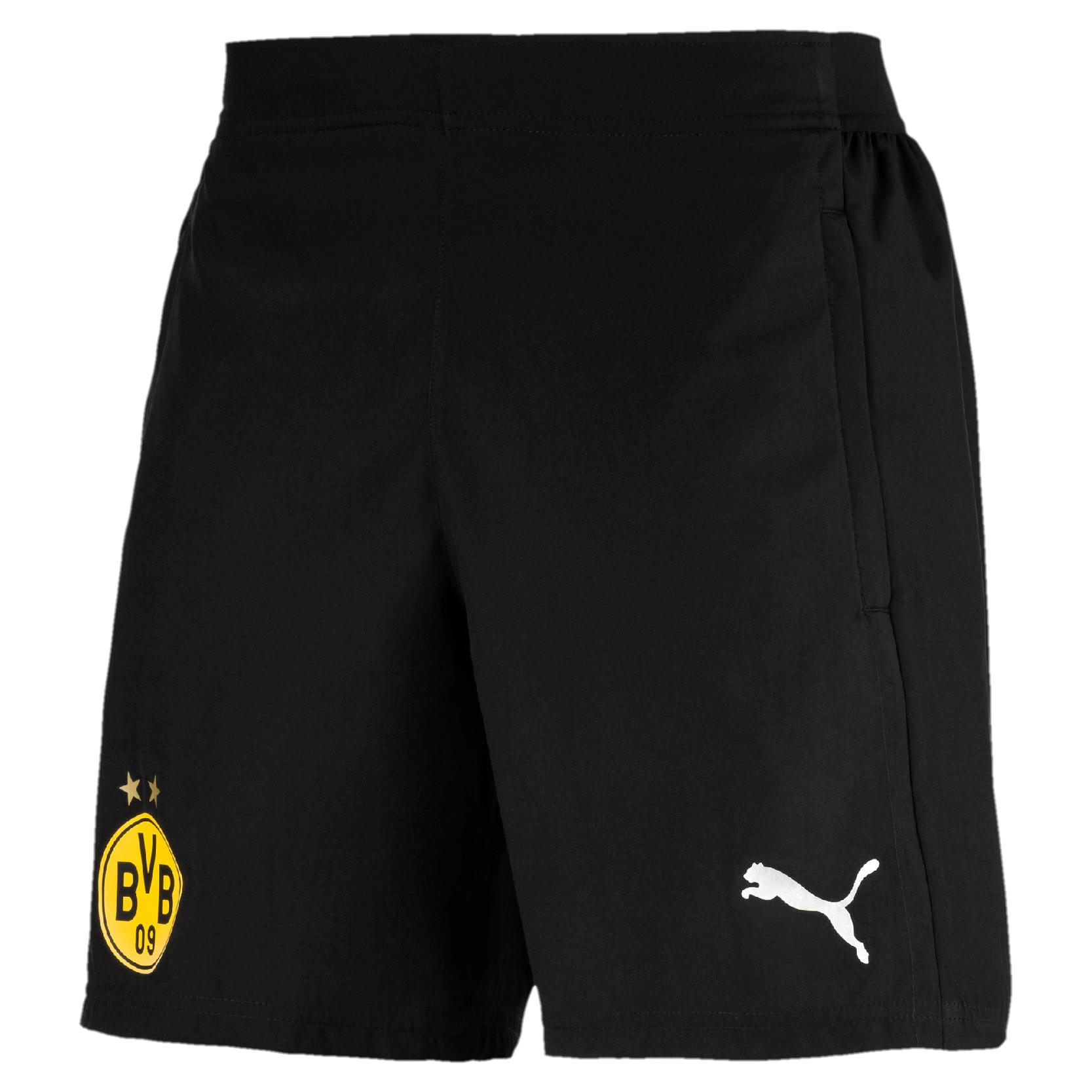Puma BVB Borussia Dortmund Herren Leisure Short Freizeitshort 753734 02 schwarz