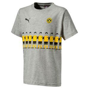 Puma BVB Borussia Dortmund - Kinder Fan Tee T-Shirt - 754106-04 grau/gelb
