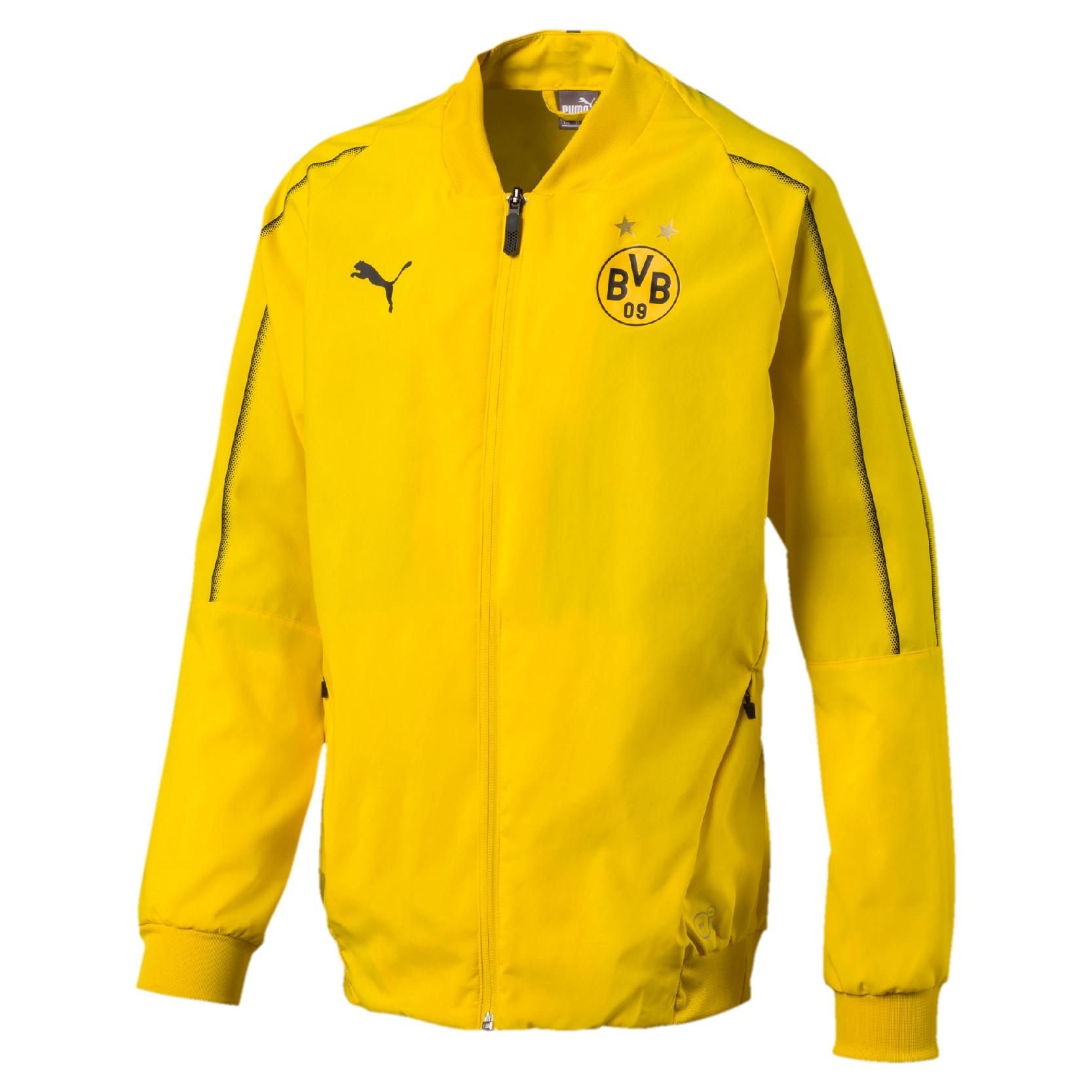 Puma BVB Borussia Dortmund Kinder Leisure Jacket Freizeitjacke 753728 01 gelb | Sportschnäppchen