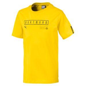 Puma BVB Borussia Dortmund - Kinder Fan T-Shirt Freizeitshirt - 754598-01 gelb