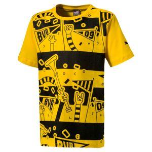 Puma BVB Borussia Dortmund Fan T-Shirt Kinder Tee T-Shirt - 754111-01 gelb/schwarz