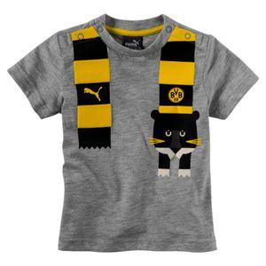 Puma BVB Borussia Dortmund - Minicats Kinder & Baby Graphic Tee Fan Shirt - 754109-04 grau