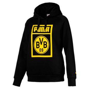 Puma BVB Borussia Dortmund Damen Fan Hoodie Kapuzenpullover 754118-02 schwarz