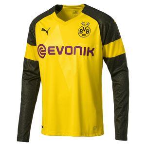 Puma BVB Borussia Dortmund - Herren langarm Heimtrikot mit Sponsor - 754485-01 gelb