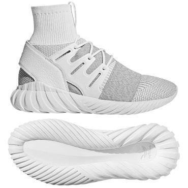 adidas Tubular Doom Primeknit - Herren Sneaker Sportschuhe - BY3553 weiss/grau