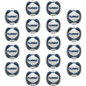 Hummel Energizer Plus Loyalitet 18er Set - Fußball Trainingsball - 87588631-9109 weiß/blau