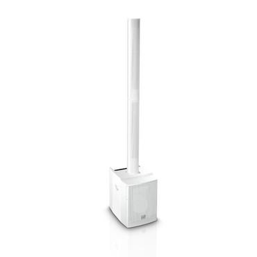 LD Systems MAUI 28 MIX W - Kompaktes Säulen PA System aktiv mit integrierter 3-Kanal Mixeinheit weiß