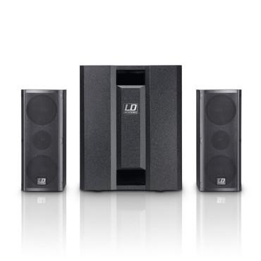 LD Systems DAVE 8 ROADIE - Portables PA-System aktiv mit 3 Kanal Mixer