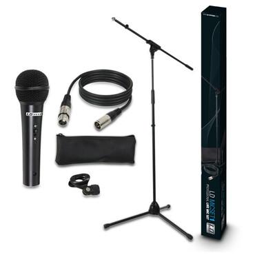 LD Systems MICSET1 - Mikrofon Set mit Mikrofon, Stativ, Kabel und Klemme