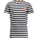 Vingino Jungen Shirt meliert gestreift rundhals kurzarm Top blau 001
