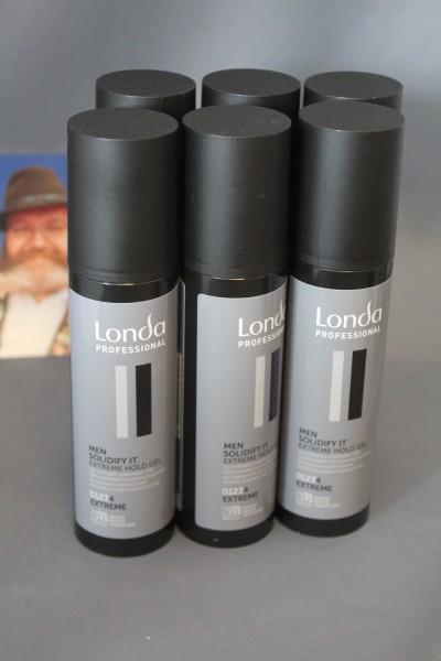Londa Solidify It Gel extrem stark for men 6x 100 ml