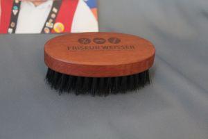 Bartbürste oval  Birnbaumholz Wildschweinborste 1o1 Barbers – Bild 1