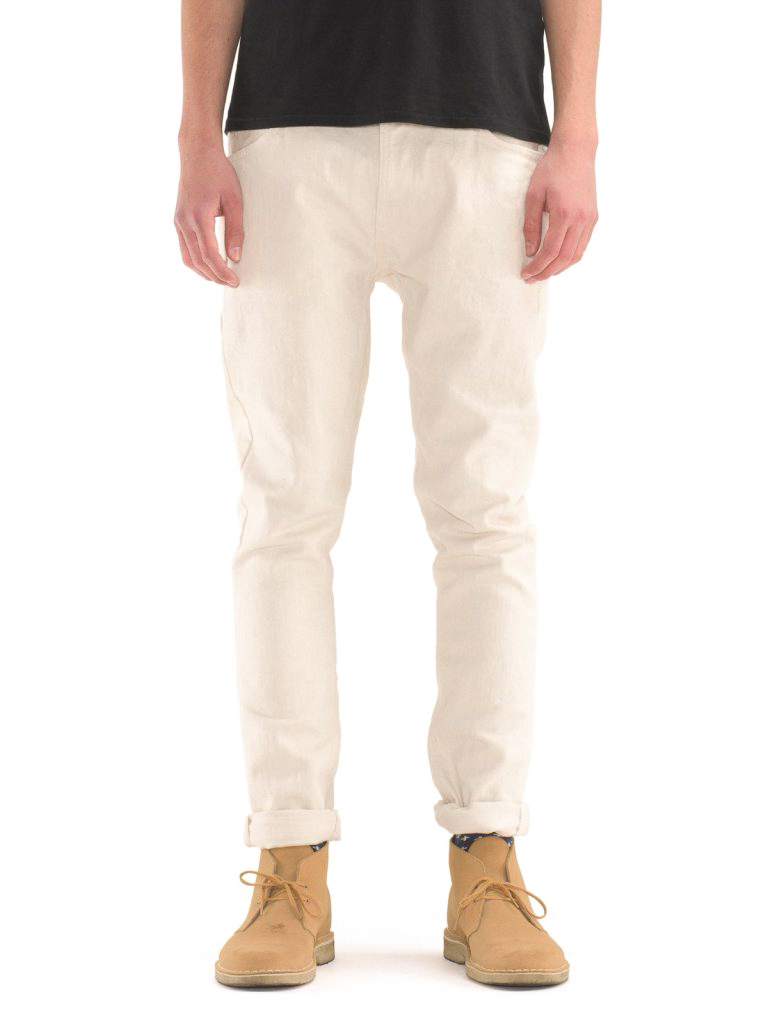 new Nudie Mens Regular Tapered Fit JeansBrute Knute Mineral Sea