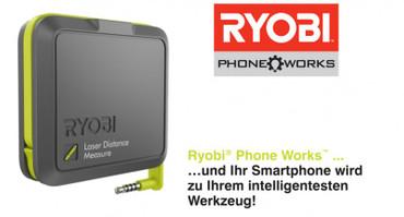 Ryobi Phone Works Laser Entfernungsmesser RPW-1000 Lasermesser – Bild 1