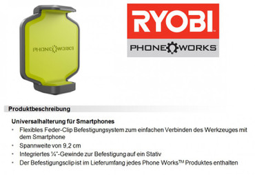 Ryobi Phone Works Infrarot Thermometer RPW-2000 Messgerät – Bild 6