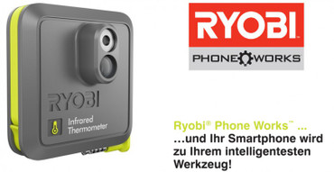 Ryobi Phone Works Infrarot Thermometer RPW-2000 Messgerät – Bild 1