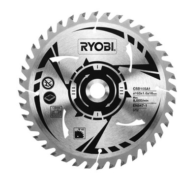 Ryobi HM-Sägeblatt CSB165A1 für Handkreissäge R18CS-0 – Bild 1