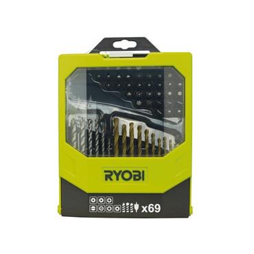 Ryobi 69-teiliges Zubehörset RAK69MIX Bohren u. Schrauben – Bild 1
