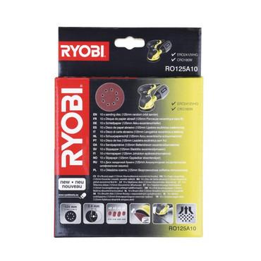 10-teiliges Schleifpapierset für Ryobi Exzenterschleifer ROS300A (RO125A10)
