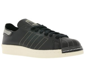 adidas Originals Damen-Schuhe Superstar 80s Decon angesagte Sneaker Schwarz
