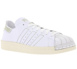 adidas Originals Damen-Sneaker Superstar 80s Decon coole Turnschuhe Weiß