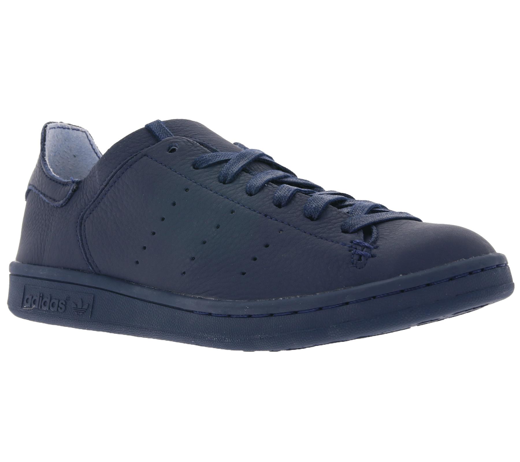 new concept 6d8d2 a32cc adidas Women's Sneaker Original Stan Smith Lea Sock Genuine Leather Shoes  Blue | Outlet46.de - B2B