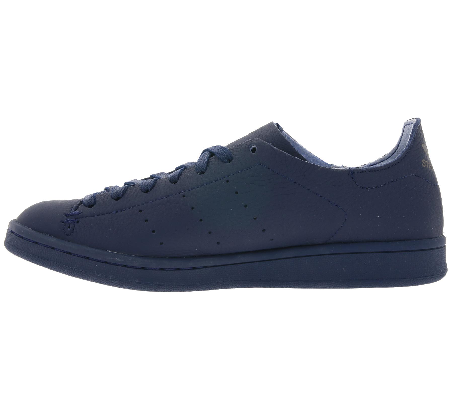 finest selection eae06 ccf8c adidas Women's Sneaker Original Stan Smith Lea Sock Genuine Leather Shoes  Blue