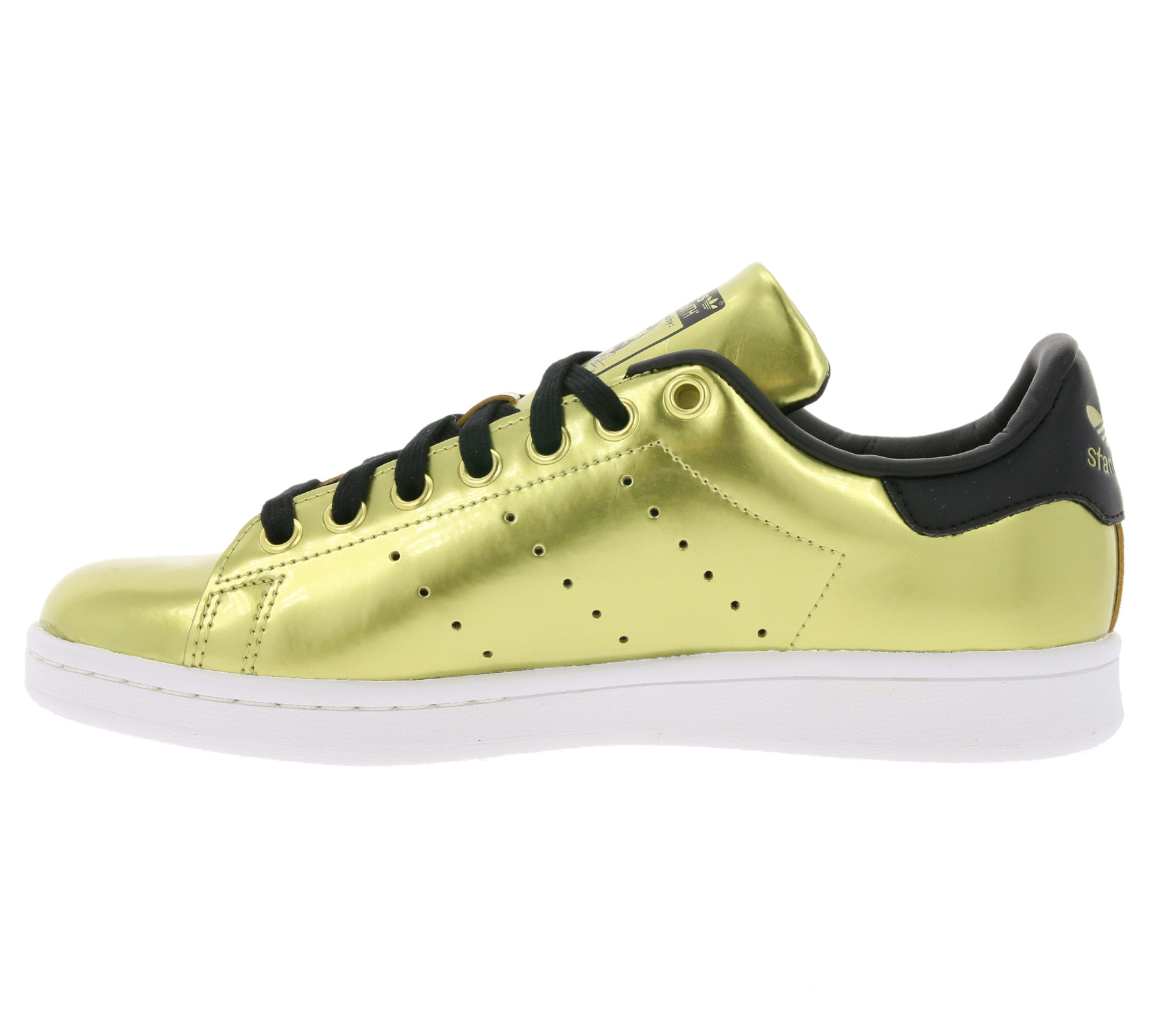 68f9e461a2 adidas Originals chaussures brillantes dames baskets Stan Smith W or ...