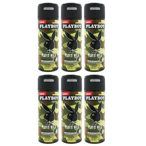 Playboy Deospray 6 x 150 ml Play it Wild