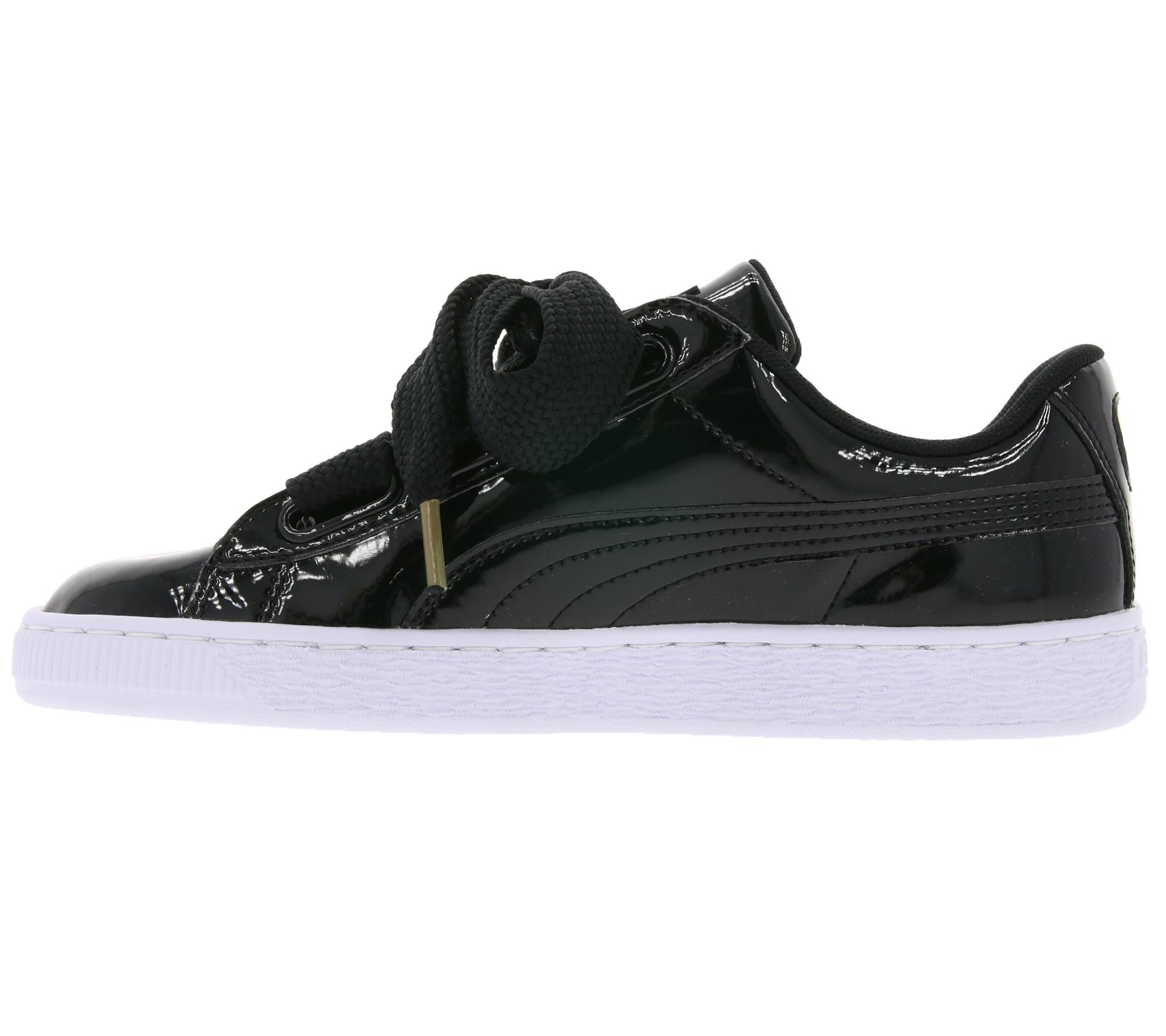 Neu Puma Basket Heart Patent Damen Schuhe Beige 363073 06