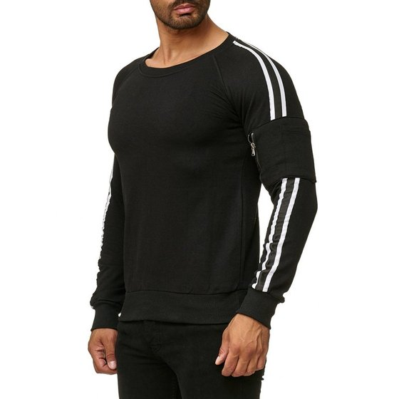 Tazzio Fashion Herren Sweatshirt Schwarz
