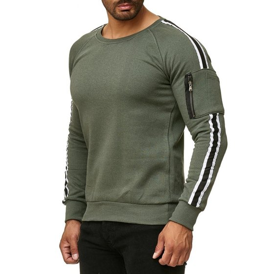 Tazzio Fashion Herren Sweatshit Khaki