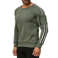 Tazzio Fashion Herren Sweatshit Khaki 001