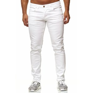 Tazzio Fashion Herren Stretch-Jeans Weiß